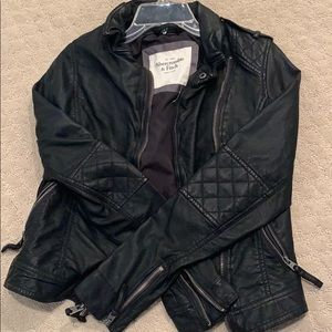 Abercrombie & Fitch faux leather jacket